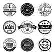 Collection of Labels with retro vintage styled design