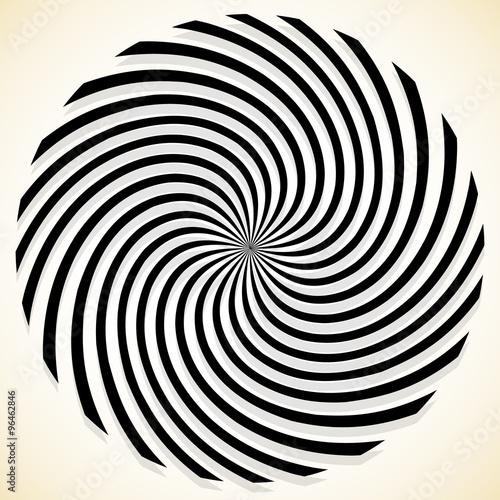 Streszczenie spiralna grafika z przędzenia, obracanie wzoru