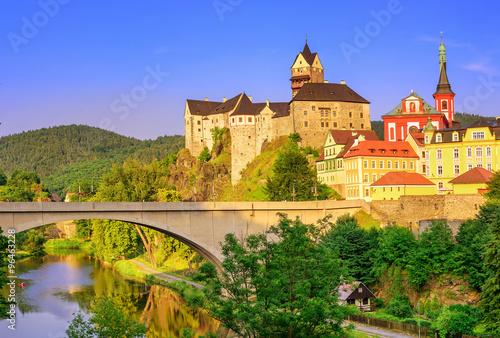 Fotografie, Obraz  Castle Loket int the near of Karlovy Vary, Czech Republic