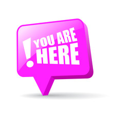 You Are Here Map Pointer