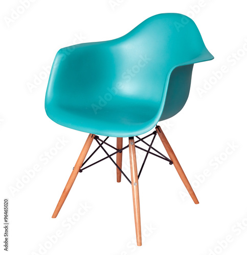 Fotografie, Obraz  Modern blue chair (stool) isolated