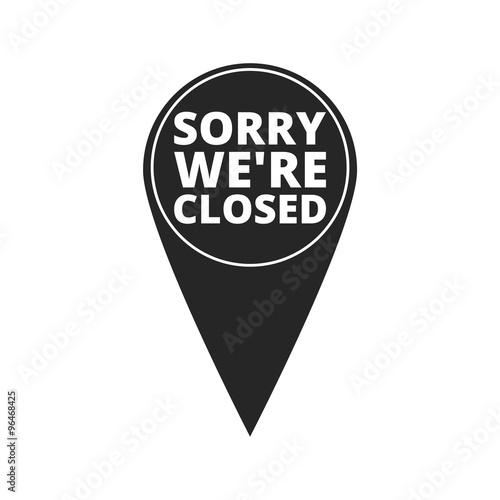 Fotografía  Sorry we're closed - map pointer
