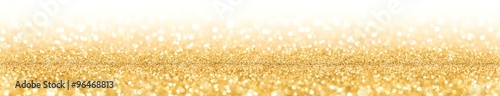 Fotografia  Golden Glitter With Sparkle Of Lights And Stars