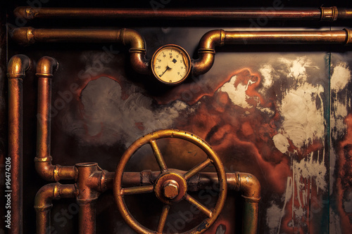 background vintage steampunk Fotobehang