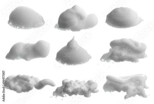 Fototapeta Shave foam (cream)  isolated on white