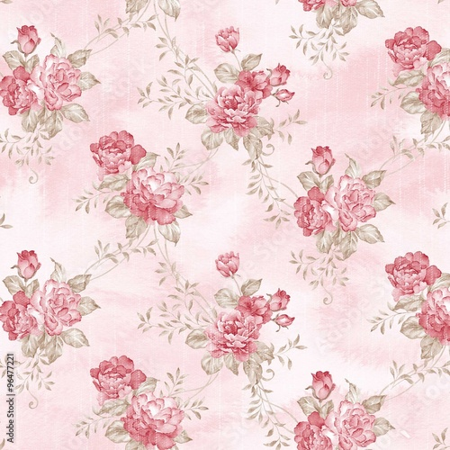 Stickers pour portes Fleurs Vintage flowers seamless pattern - For easy making seamless pattern use it for filling any contours