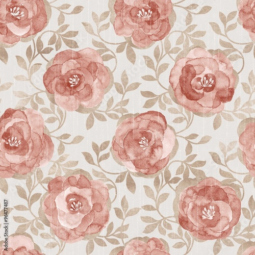 Poster Vintage Flowers flowers seamless pattern - For easy making seamless pattern use it for filling any contours