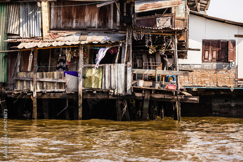 Slum on water