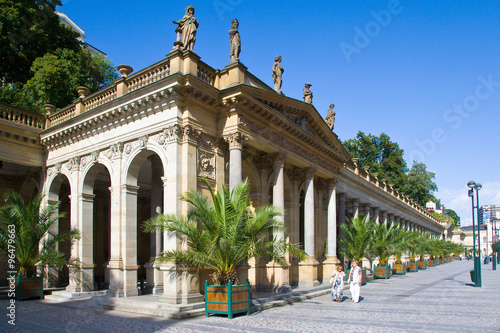 Fotografie, Obraz  neo-renaissance Mill collonade (Mlynska kolonada) in spa town Karlovy Vary, West Bohemia, Czech republic