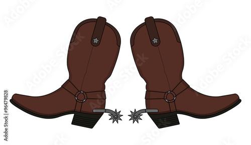 Valokuva  Wild west leather cowboy boots