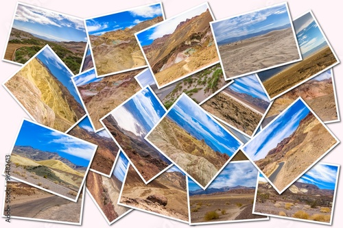 Fototapety, obrazy: Death Valley pictures collage