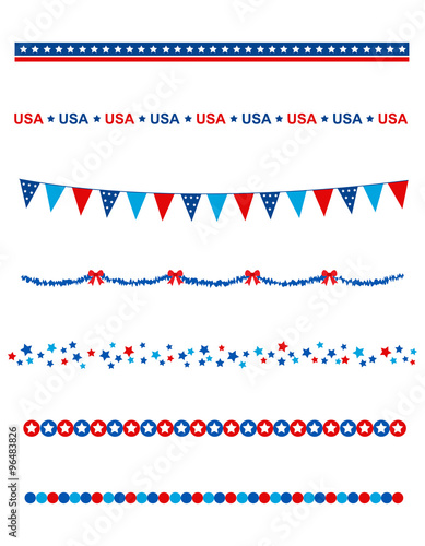 Photo  USA patriotic divider