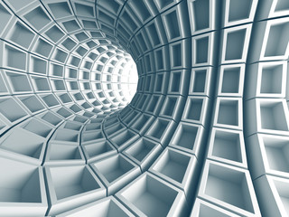 FototapetaAbstract Architecture Tunnel With Light Background