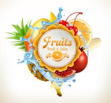 Fruits Vector Label