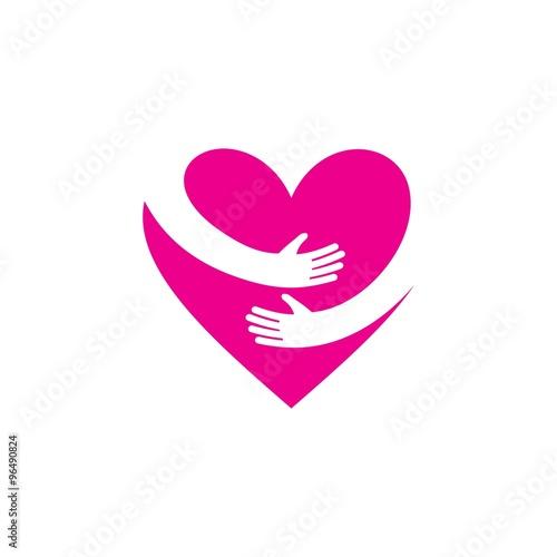 Fotografie, Obraz  Love Logo Vector Template