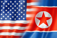 USA And North Korea Flag