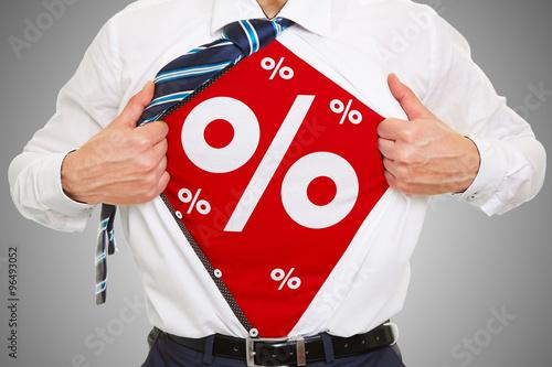 Fotografía  Rabatt und Angebot mit Prozenten