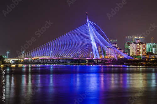 Seri Wawasan Bridge in Putrajaya at  evening Poster