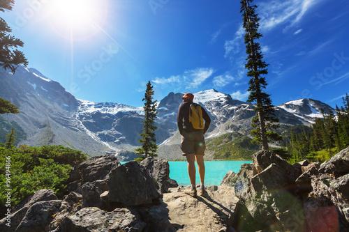 Spoed Foto op Canvas Canada Hike in Canada