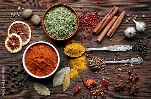 Photo various spices