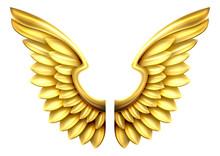 Metal Gold Wings