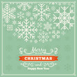 Vector christmas decorating design made of snowflakes