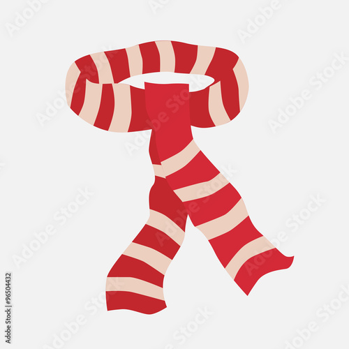 Fotografie, Obraz  Red striped scarf