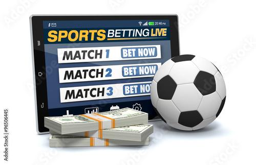 Fotografía  concept of online sport bets