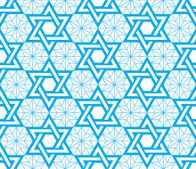 Jewish, Star Of David Blue Sea...