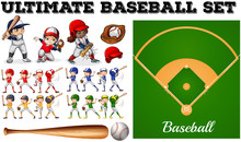 Children In Baseball Team And ...