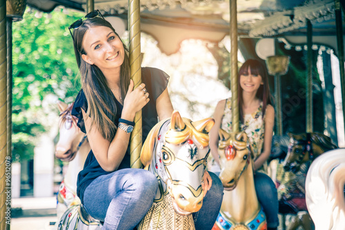 Valokuva Women on a merry-go-round