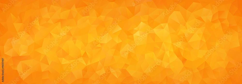 Fototapeta abstract mosaic background of orange gradient triangles
