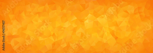 Fotografie, Obraz  abstract mosaic background of orange gradient triangles