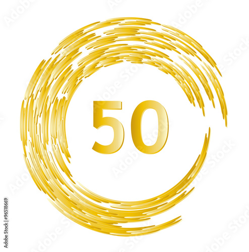 Jahrestag.Ehrentag Geburtstag Jahrestag Jubilaum 50 Jahre Mit Goldenem