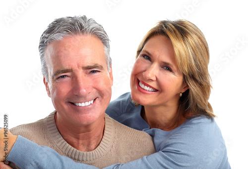 Happy smiling elderly couple. #96525099