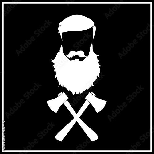 Fotografie, Obraz  Lumber jack VECTOR icon.
