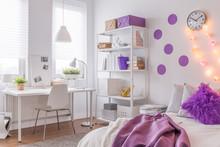 Room With Purple Decoration