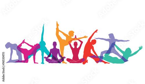 Papel de parede Yoga und Gymnastik Posen