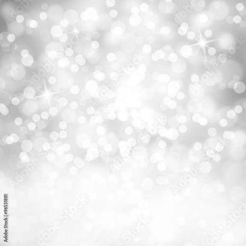 bright shiny silver color abstract bokeh circle and