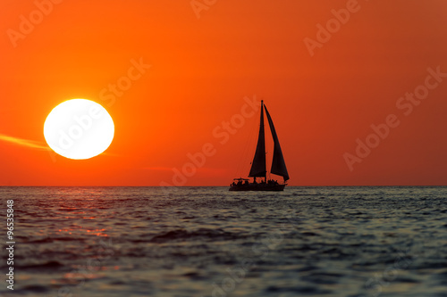 Sailboat Sunset - 96535848