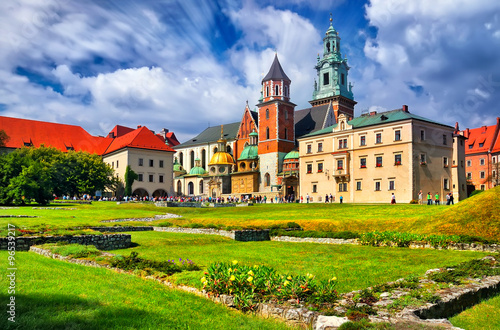 The historic castle in Krakow. Poland