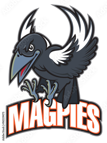Fototapeta Magpies team mascot