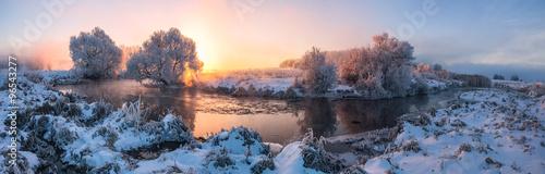 Poster Cappuccino Winter sunrise