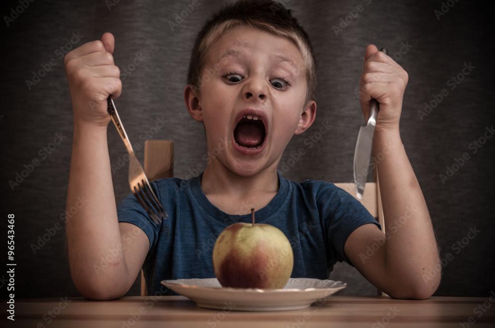 Fototapeta Atak na jabłko