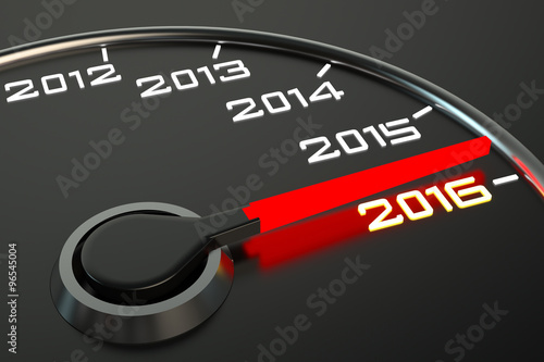 Poster  Conceptual 2016 year speedometer