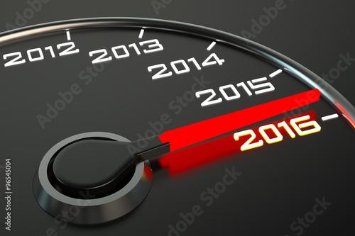 Fotografia  Conceptual 2016 year speedometer