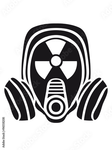 radioactively contaminated nuclear radiation bomb gasmask sign symbol danger dan Wallpaper Mural
