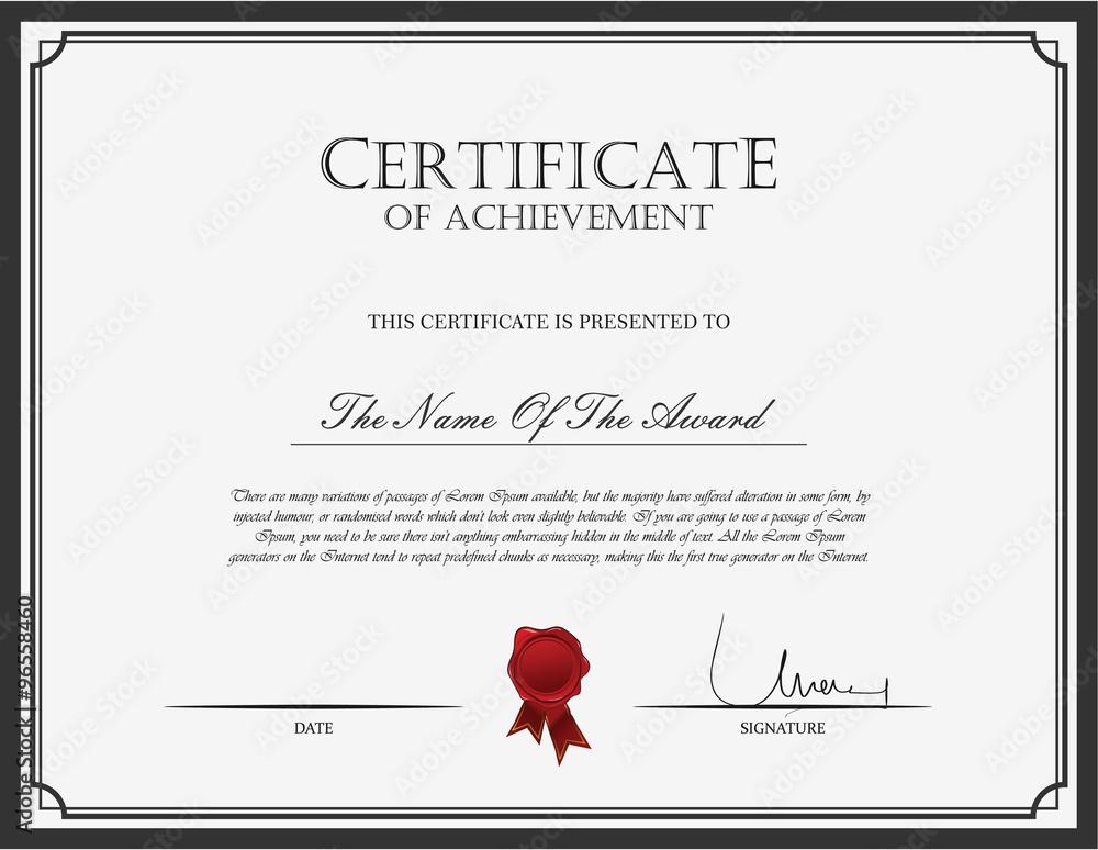 Fototapety, obrazy: Certificate template