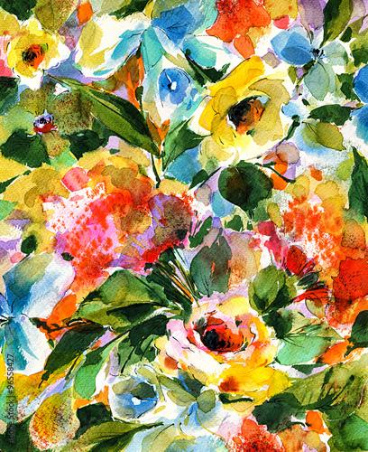 Pomaluj kwitnący ogród akwarelami
