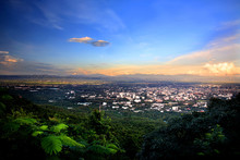 Scenic Point Of Chiang Mai City At Doi Suthep